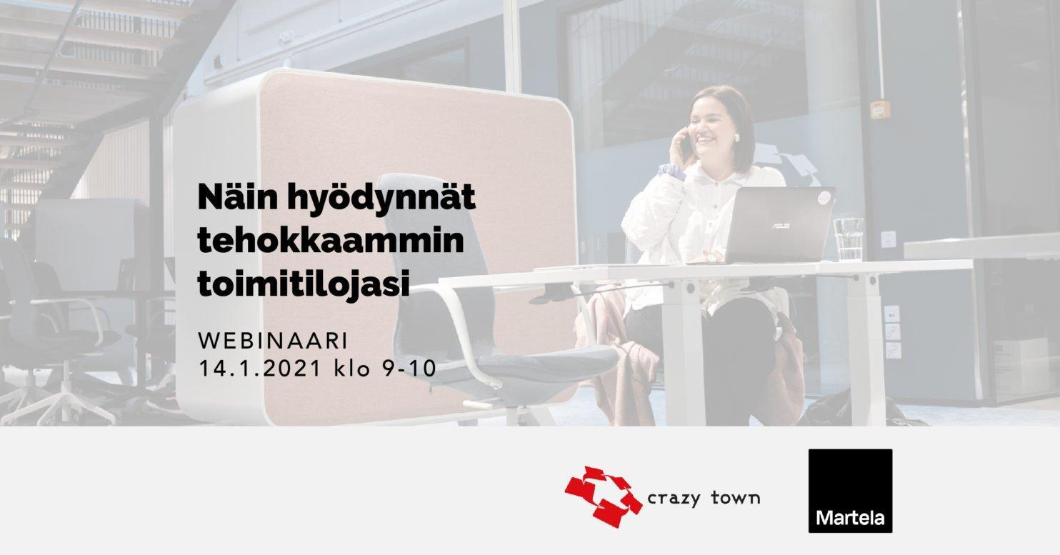 Toimitila webinaari Crazy Town Jyvaskyla