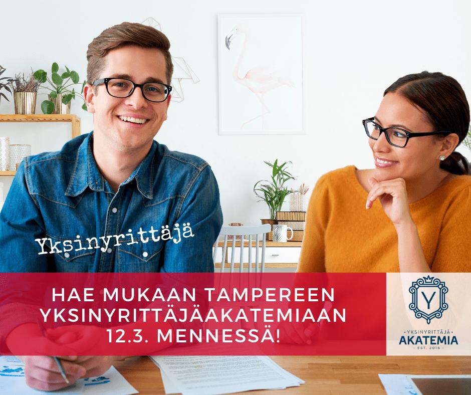 Yksinyrittäjä akatemia Tampere haku