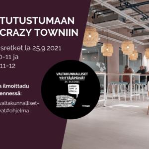 Tour Tutustumisretki Valtakunnallisten Yrittäjänpäivät Suomen Yrittäjät Crazy Town Jyväskylä Silja Rehunen coworking