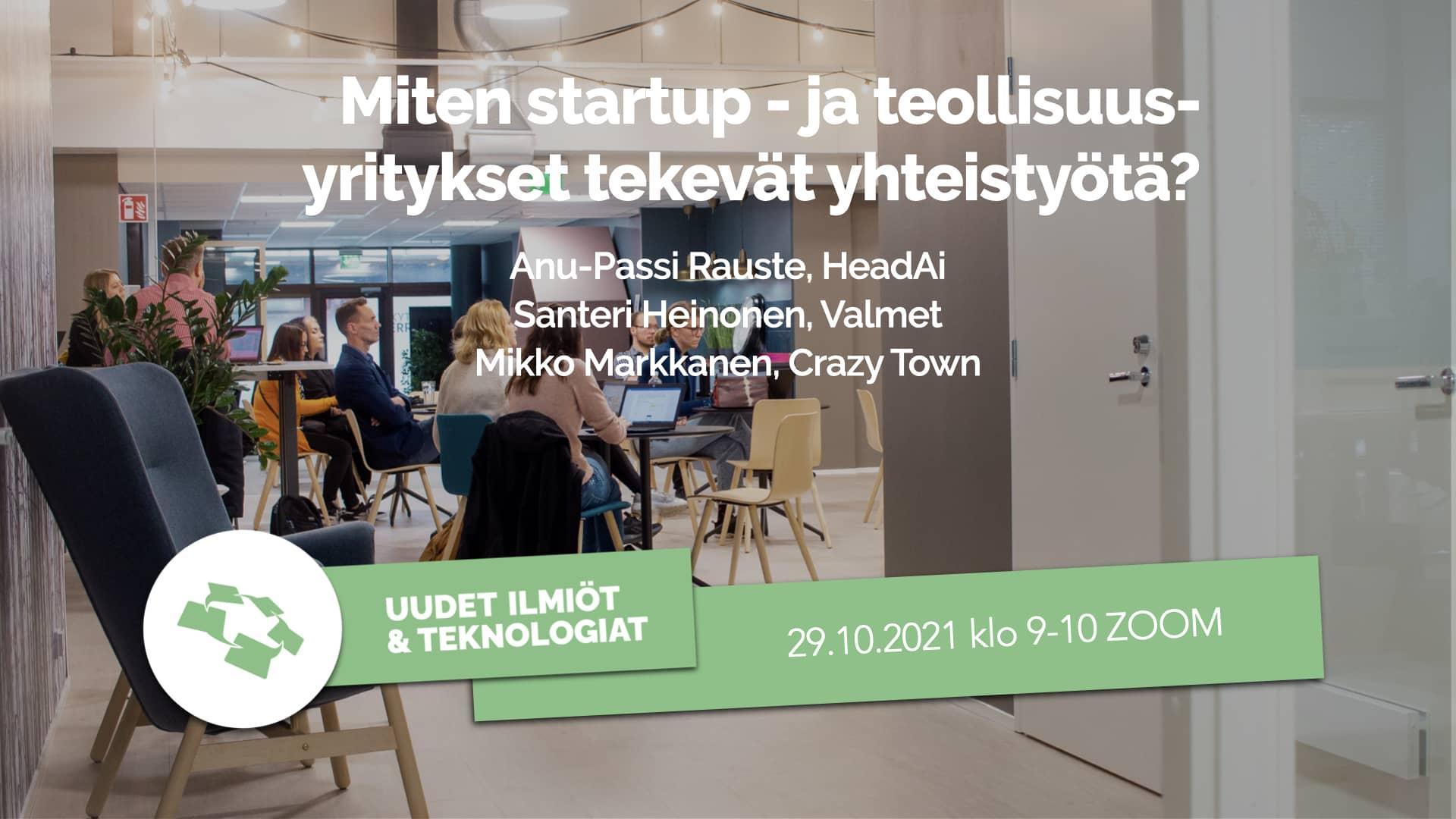 Startup ja teollisuusyritykset yhteistyö CT Talk